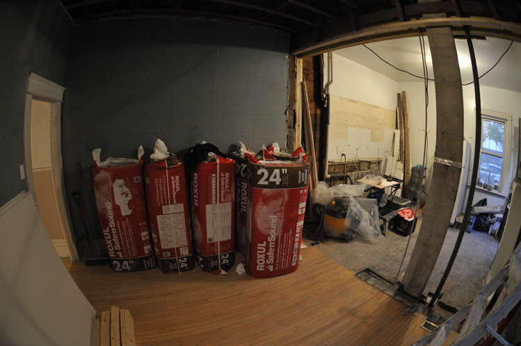 roxul fireproof sound proof insulation for above the